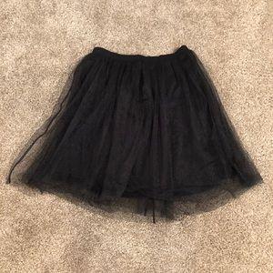 Poofy Black Skirt
